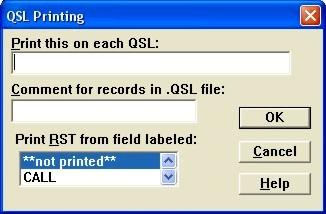 File QSL Printing Dialog Box
