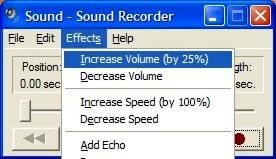 Sound Recorder Effects — Decrease Speed