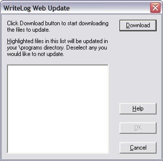 Web Update Dialog Box