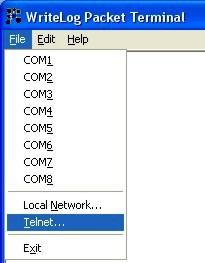 Packet Terminal Com Setup