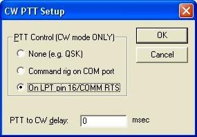 CW PTT Dialog Box