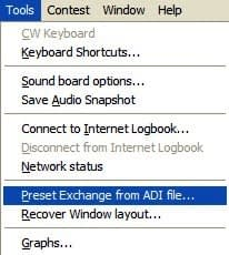 Tools Preset Exchange from ADI File