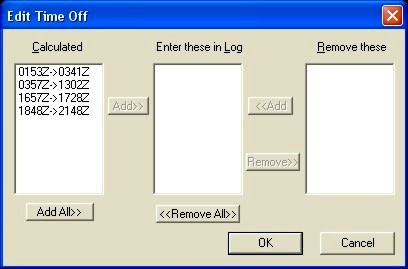 Edit Time Off Dialog Box
