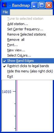 Band Map Band Edge Option