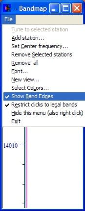 Band Map Band Edge Option