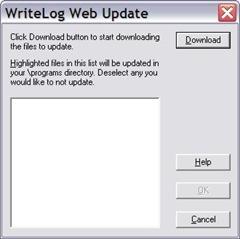 WriteLog Web Update Dialog