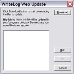 WriteLog Web Update Dialog