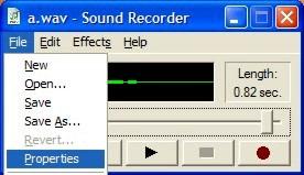 Sound Recorder — File Properties