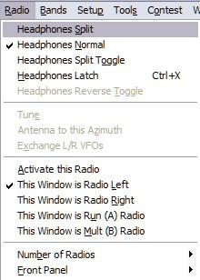 Radio Drop Down Menu
