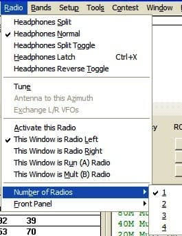 Radio Number Dialog Box