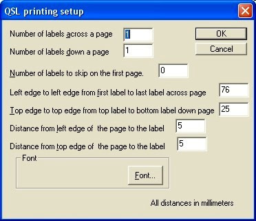 File QSL Printing Setup