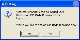 Operator Dialog Box
