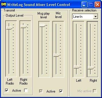 WriteLog Sound Mixer Control