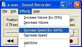 Sound Recorder — Increase Speed