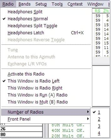 WriteLog 2-Radio setup