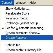 Contest Create Reports