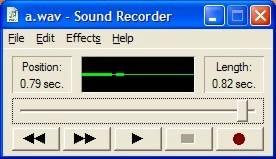 Sound Recorder — A WAV File — End