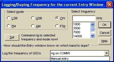 Frequency and Mode Setting